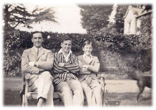The three Clifton brothers: Bob, the eldest died of epilepsy pre-war; Kenneth in the middle. Ian, youngest brother on the right, died 2011.  | © Daphne Clifton