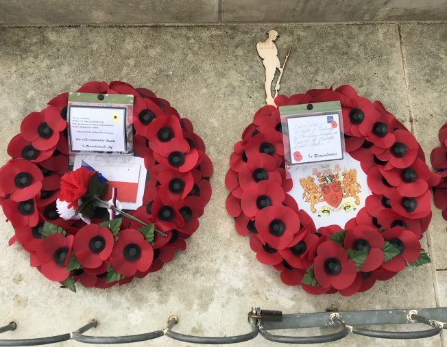 Wreaths from The Defence Attache of the Czech Embassy and Tandridge Council. | Linda Duffield