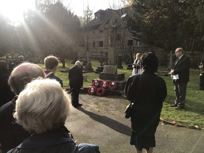 Cynthia Roach laying a wreath on behalf of The RAF Association.  | Linda Duffield