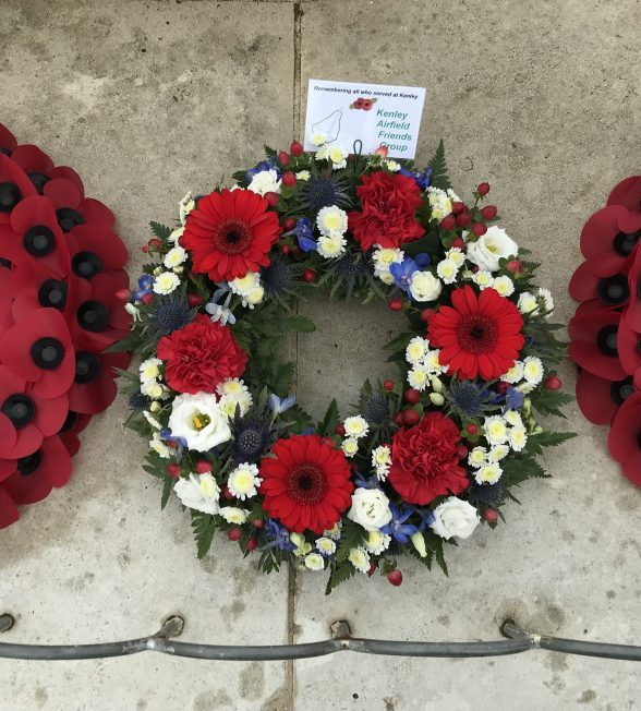 Wreath laid by Kenley Airfield Friends Group. | Linda Duffield