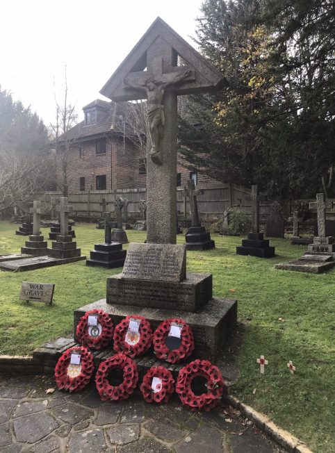 The war memorial at St Luke's, Whyteleafe. | Linda Duffield