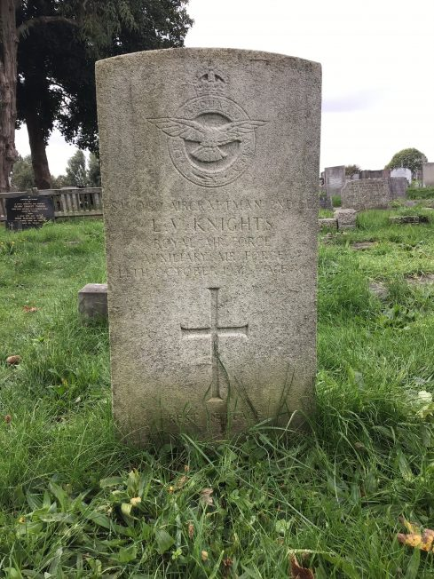The grave of AC2 Knights in Bandon Hill Cemetery, Wallington.  | Linda Duffield