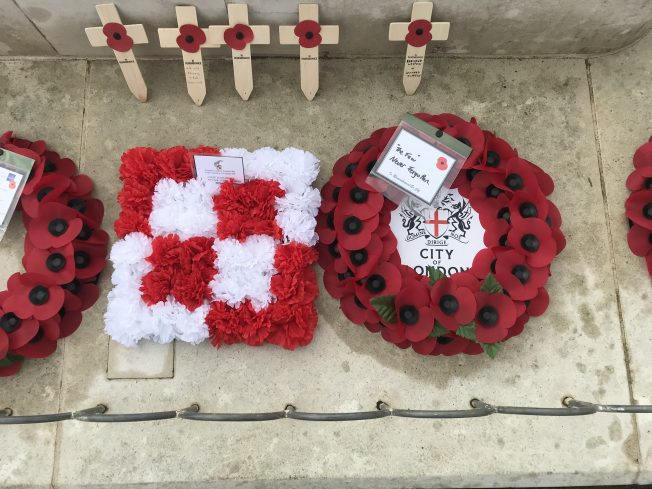 Wreaths from the Polish Airmen's Association UK and The City of London. | Linda Duffield
