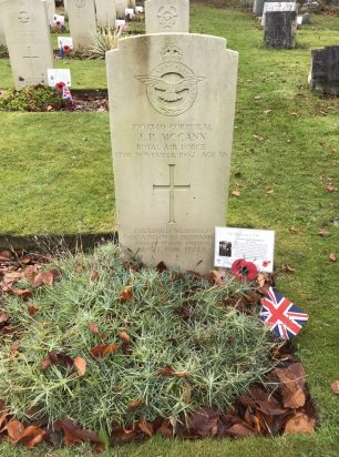 The grave of Cpl. McCann in St. Luke's, Whyteleafe. Remembrance 2020.  | Linda Duffield