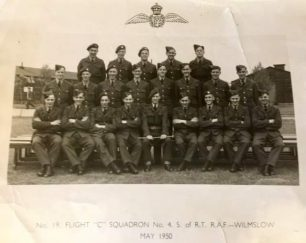 Cedric Wort. Middle row, fifth from left, during training at Wilmslow.  | Cedric Wort