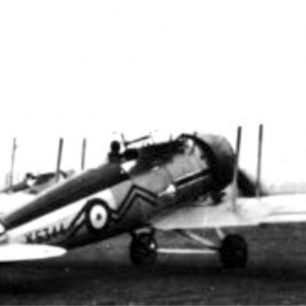 Gloster Gauntlet K5344 - one of the aircraft involved in the collision, though which pilot was flying it remains unknown.