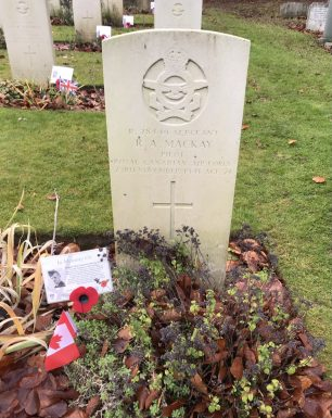 The grave of Sgt. MacKay in St. Luke's churchyard, Whyteleafe. Remembrance 2020.  | Linda Duffield