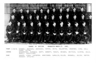 Richard Byrne Honeycombe, Back row, 4th from left.    No. 6 STFS Dunnville Museum via Pierre Lagacé