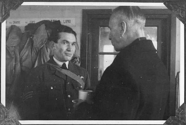 Sgt. Bruno Malinowski (left) with the President of Poland, Władysław Raczkiewicz.  | Jane Dunmill
