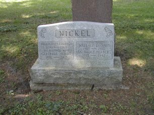 F/Sgt. B. H. Nickel remembered on the family grave marker at Avondale Cemetery, Stratford, Ontario, Canada.  | B. G. Wiehle