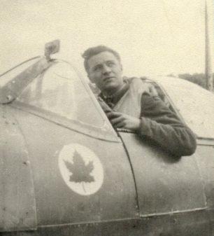 Hugh Edward McGraw in a Spitfire, England.  | Canadian Virtual War Memorial