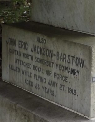 The grave of Capt. John Eric Jackson-Barstow in Weston-Super-Mare Cemetery.  | Sue Hoddinott