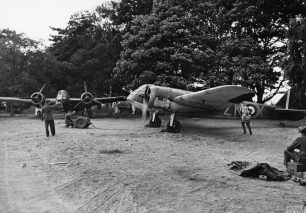 Bristol Blenheim Mk.IF's of No.25 Squadron at Martlesham Heath on 25/7/1940.  | ©️IWM HU104652