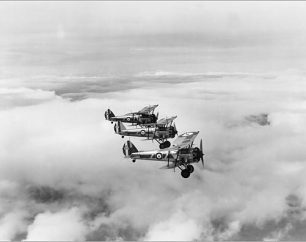 Bristol Bulldog aircraft of 32 Squadron, 1935 | RAF Museum