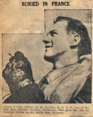 P/O Allister McClean Skinner | Pictou and Antigonish War Cenotaph