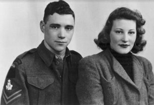 Ralph and Doris (Field) Lloyd in a studio portrait taken before their wedding in December 1941.  | Melynda Jarratt