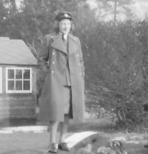 Doris in uniform during her time at RAF Kenley. This photo was taken at the WAAF billets, so it might be Coulsdon Court Golf Club.  | Melynda Jarratt