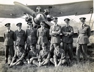 No.32 Fighter Squadron. Sgt. Loxton seated far right, front row.  | James Loxton