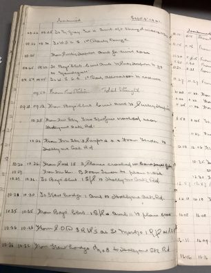 Croydon A.R.P. records detailing the response to the two Spitfires crashing and their location in the Hollymeoak Rd / Grounds of Cane Hill Hospital area.  | Croydon Local Studies Archive CPUDC-3-2-2