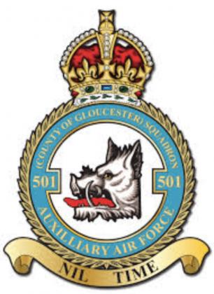 501 Squadron badge.