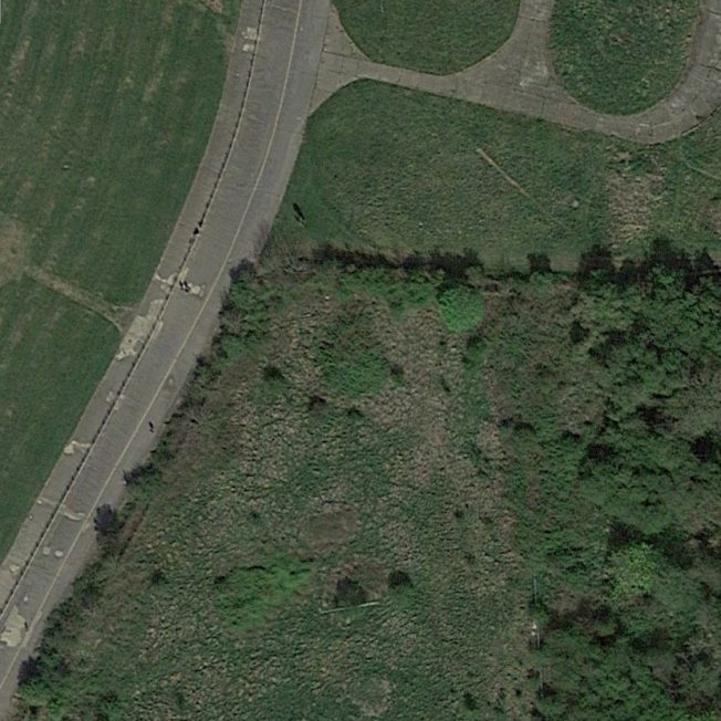 Blast Pen 1 from an Aerial Photograph of the Airfield from April 2020 | Google Maps