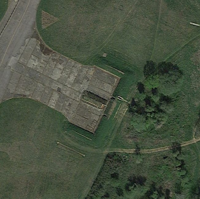 Blast Pen 3 from an Aerial Photograph of the Airfield from April 2020 | Google Maps