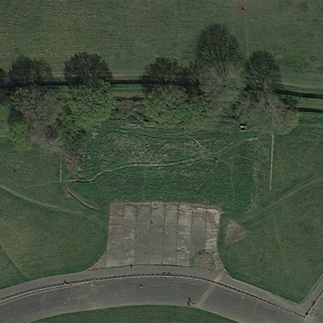 Blast Pen 5 from an Aerial Photograph of the Airfield from April 2020 | Google Maps