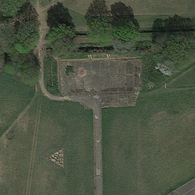 Blast Pen 6 from an Aerial Photograph of the Airfield from April 2020   Google Maps