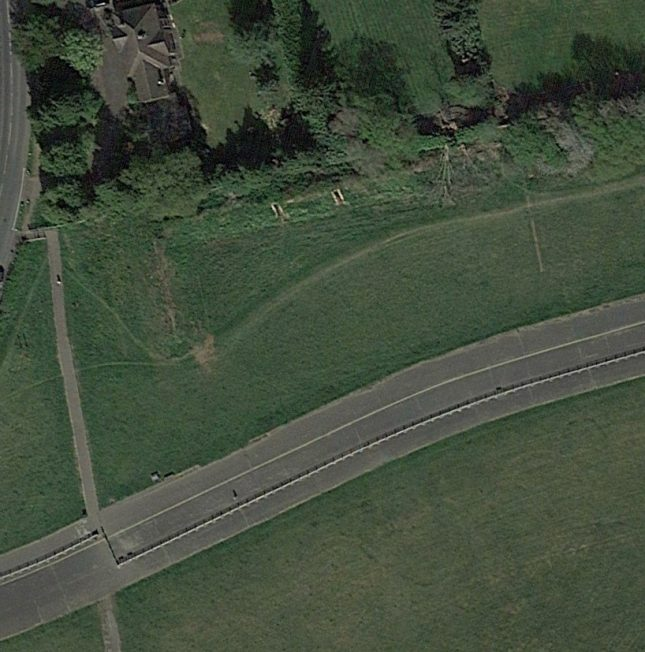 Blast Pen 8 from an Aerial Photograph of the Airfield from April 2020   Google Earth