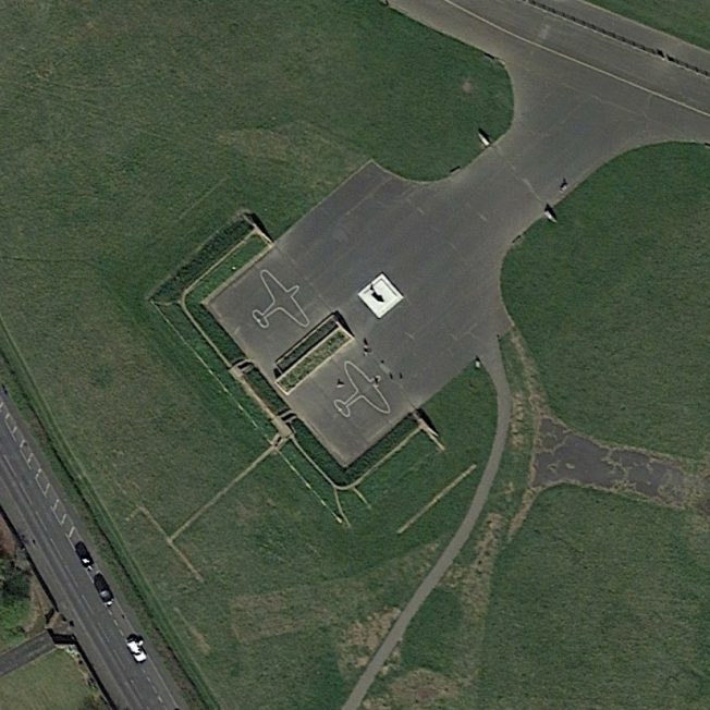 Blast Pen 11 from an Aerial Photograph of the Airfield from April 2020   Google Earth