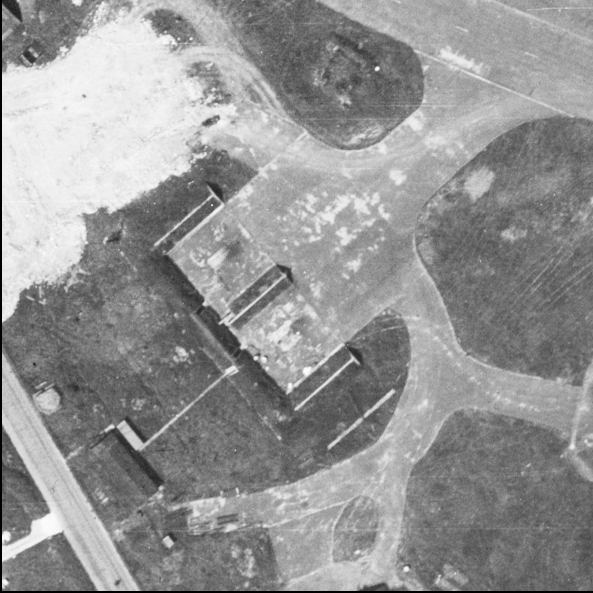 Blast Pen 11 from an Aerial Photograph of the Airfield from May 1947   Historic England