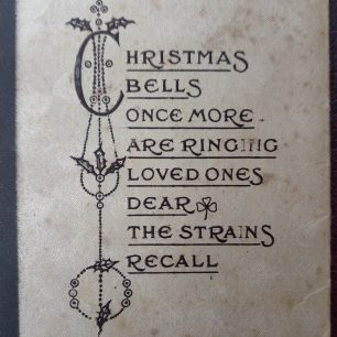 No.3 Squadron Christmas card, 1938. Outside Cover, detail.