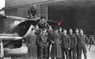 253 Squadron at RAF Northolt (see link below). F/Lt. Anderson marked by the red arrow.  | F/Lt Greenwood via Andy Long