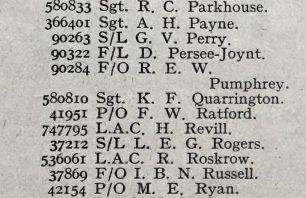 P/O Ratford listed amongst the 'Missing.' His name was one of 297 on the 34th Casualty list of the War, issued by the Air Ministry on 17th June, 1940.  | 'Aeroplane' magazine, June 28, 1940.