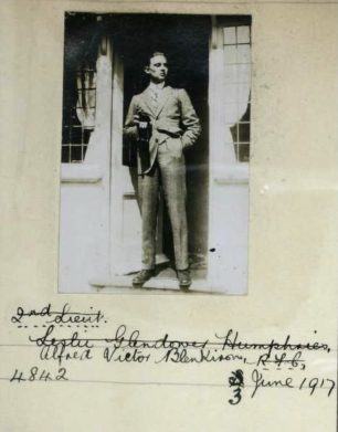 Alfred Victor Blenkiron's photo for his Royal Aero Club Certificate, July 1917.