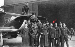 253 Squadron at RAF Northolt. (See link below). Sgt. MacKenzie marked with a red arrow. | F/Lt. Greenwood via Andy Long