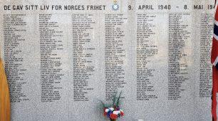 Captain Hertzberg remembered on the Roll of Honour at the Norwegian Armed Forces Aircraft Collection in Gardermoen. | Bjørn Olsen, Forsvarets flysamling Gardermoen.