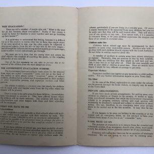 Civil Defence Leaflet, No.3. Centrefold.  | Robin Grainger