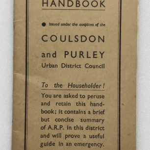 A.R.P. Handbook, (Coulsdon and Purley). Front Cover.   Robin Grainger