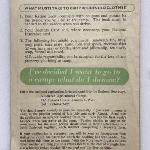 'Lend a Hand on the Land' leaflet. Back cover.  | Robin Grainger
