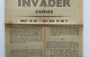 'If the Invader Comes' Leaflet - June, 1940