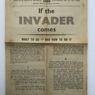 'If the Invader Comes' Leaflet - June, 1940. (Front) | Robin Grainger