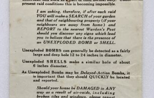 Unexploded Bombs and Damage to Property Leaflet
