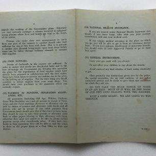'War Emergency Information and Instructions' leaflet, 4/9/1939. Outside.  | Robin Grainger
