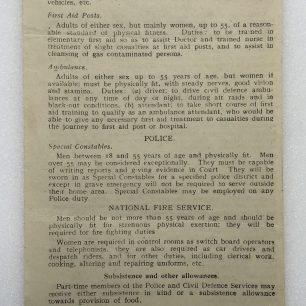 Ministry of Labour and National Service Leaflet, 1942. (Overleaf)    Robin Grainger