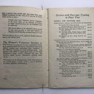 National Service' Booklet - 1939, (Page 8-9). | Robin Grainger