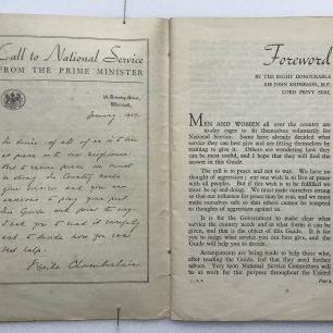 'National Service' Booklet - 1939, ((Page 2-3 | Robin Grainger