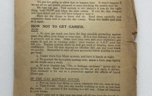 'What to do About Gas' Leaflet - 1941