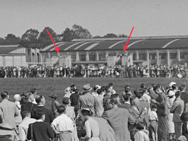 The stop butts can be seen in the distance. Empire Air Day, 1937.  | Surrey County Libraries (RAF Kenley by Peter Flint).