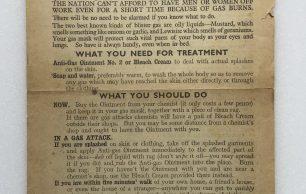 'If Hitler Uses Blister Gas' Leaflet - 1942
